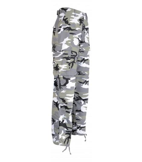 Pantalon BDU camouflage urban bleu ou gris