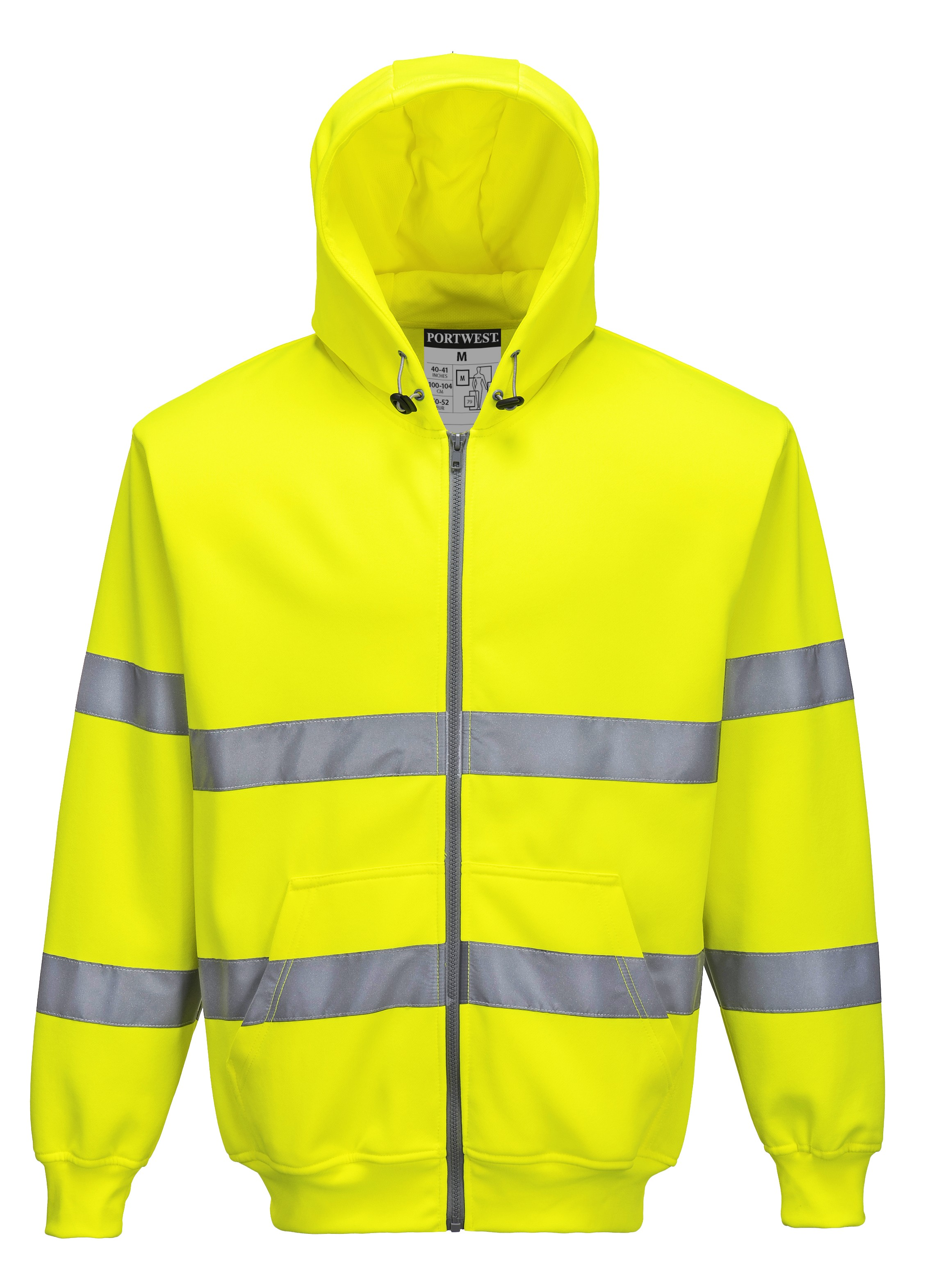 Sweat zip à capuche Hi Vis