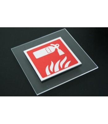 Plaque BI-matières : plaque imprimée + contre plaque plexi