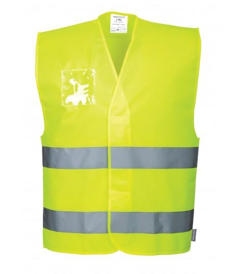 Gilet Hi-Vis avec porte badge