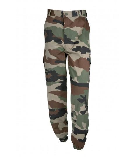Pantalon militaire F2 camouflage bas elastique