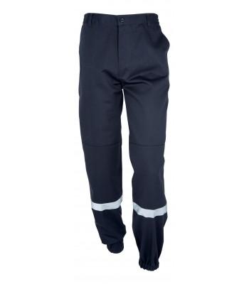 Pantalon de sécurité incendie bleu marina avec bande réflechissantes