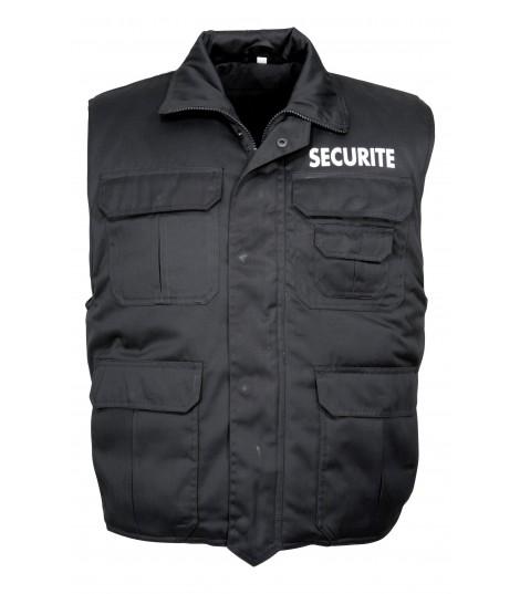 Gilet reporter sécurité noir