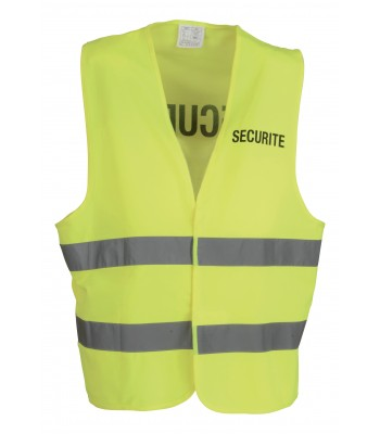 Chasuble de sécurité jaune fluo