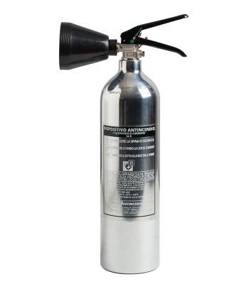 Extincteur DESIGN 2kg CO2 en aluminium luxembourg professionnel