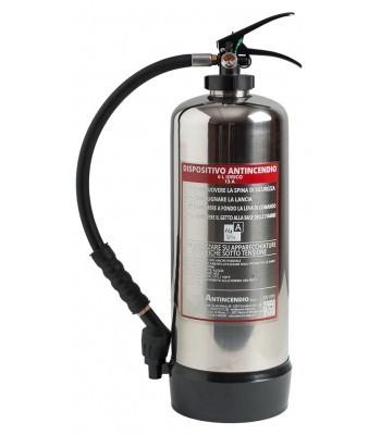Extincteur DESIGN à eau pulvérisée avec additif 6 litres INOX luxembourg
