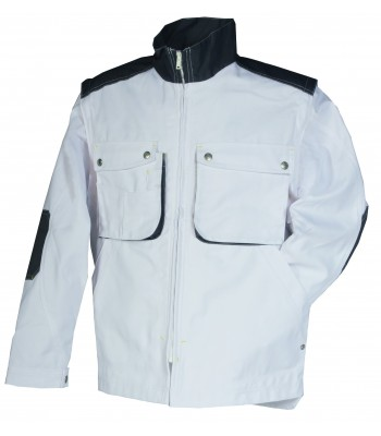 Blouson Craft Paint Blanc / Gris