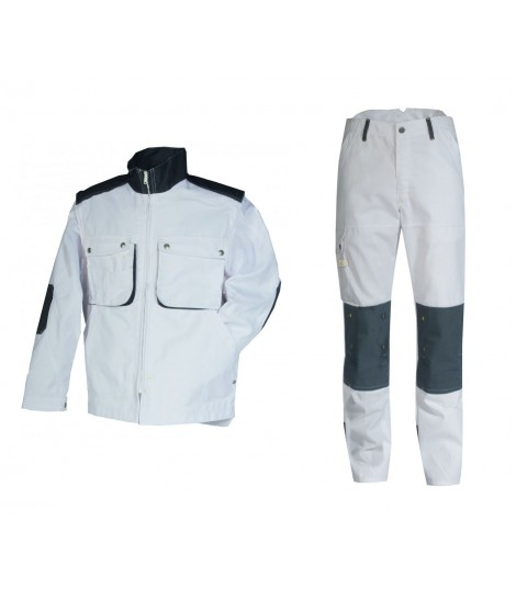 Kit peintre CRAFT PAINT gris et blanc blouson + pantalon