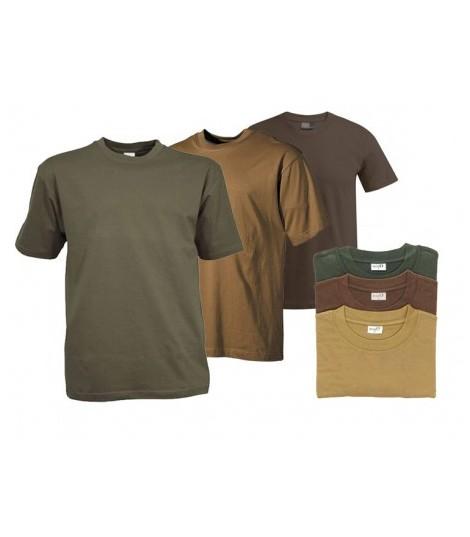Pack 3 Tee shirt Uni Militaire pour homme 100% coton