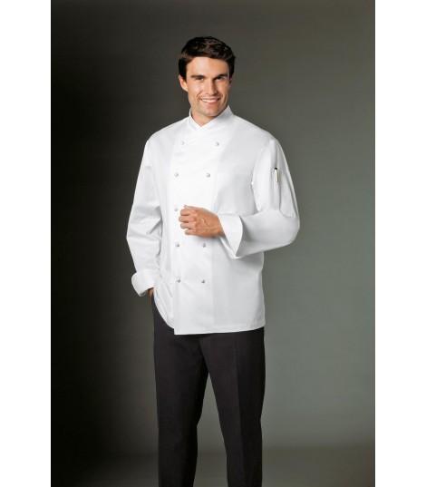 Veste de cuisine JOLIO blanche sans poche