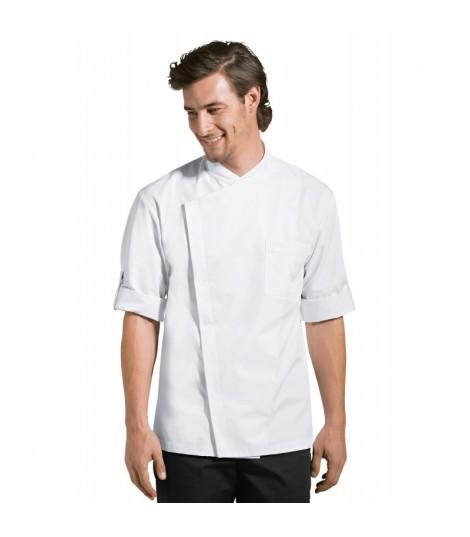 MENUIRE veste de cuisine pour homme blanche