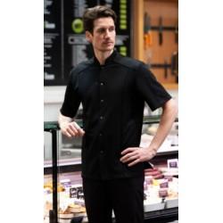 ACHARD MANCHES COURTES veste de boucher homme noir