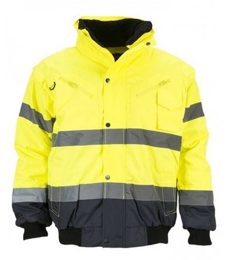 BOMBER BLOUSON HI-VIZ 3 en 1 haute visibilité jaune ou orange