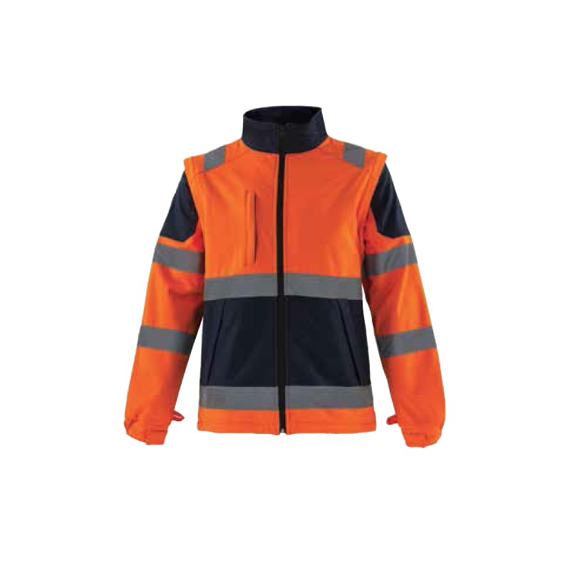 vêtement de travail haute visibilité luxembourg location softshell orange